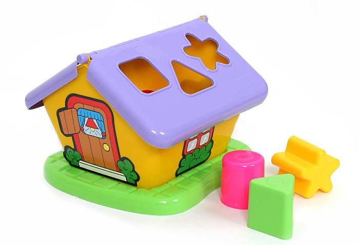 Vkladačka domček Polesie - fialová