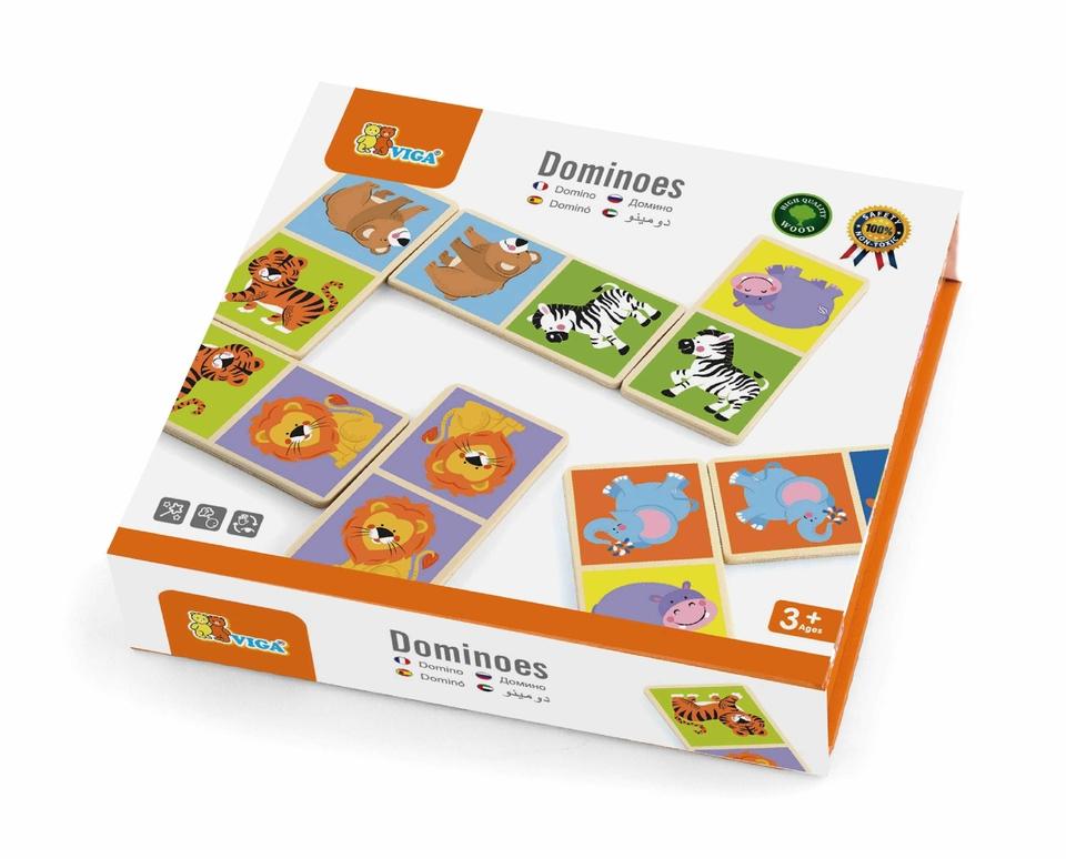 Drevené domino Divoké zvieratká
