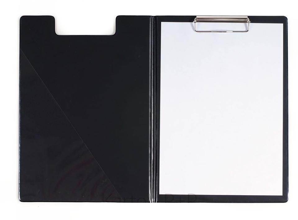 Dvojdoska s klipom A4, lesklá čierna