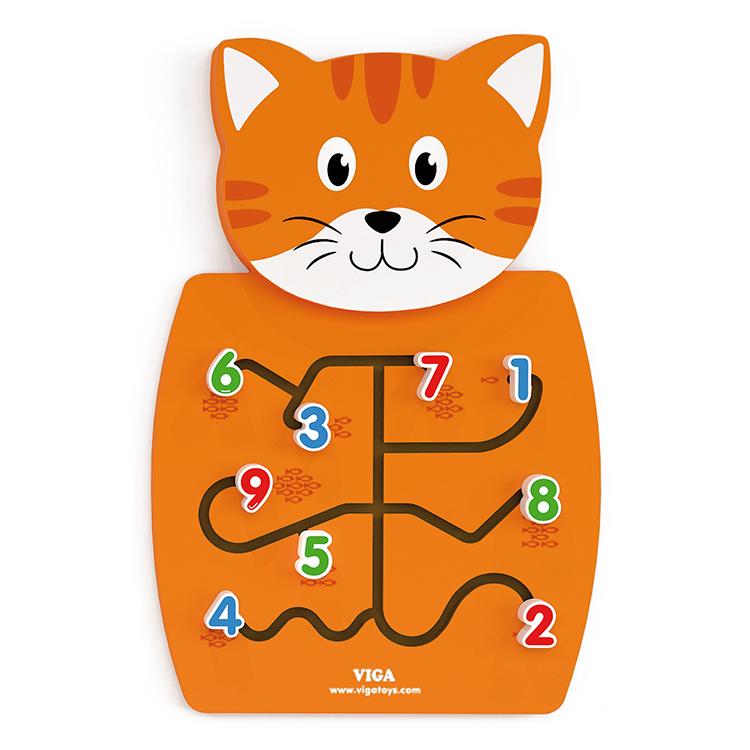 Viga Drevená nástenná hra mačka