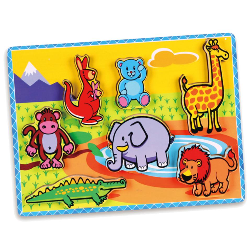 Viga Drevená vkladačka zoo 7ks