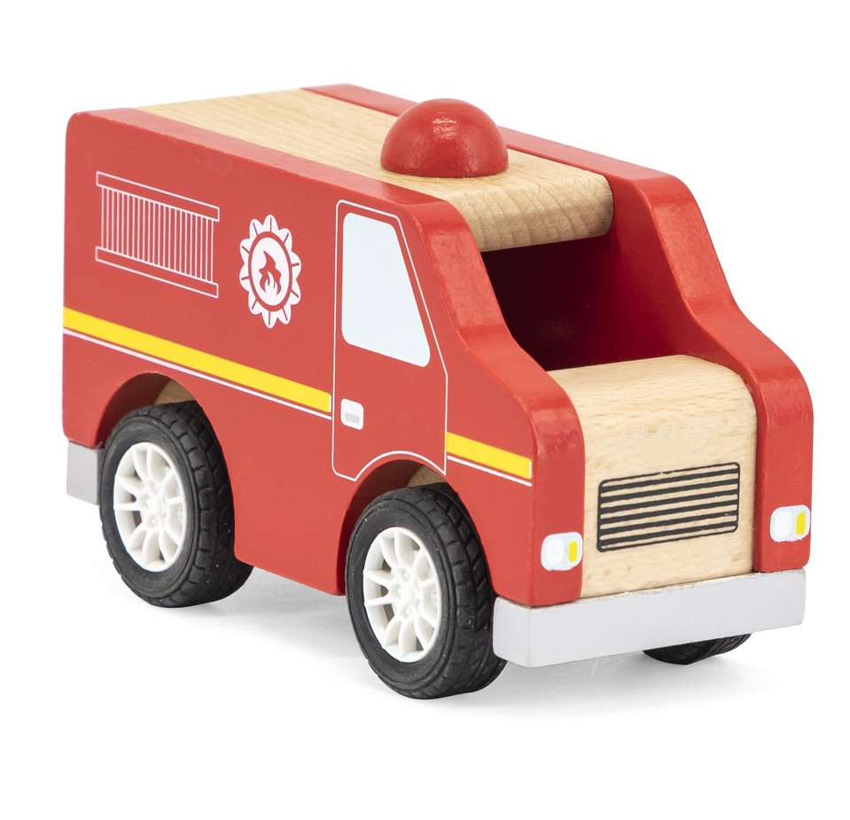 Viga Drevené hasičské auto 13cm
