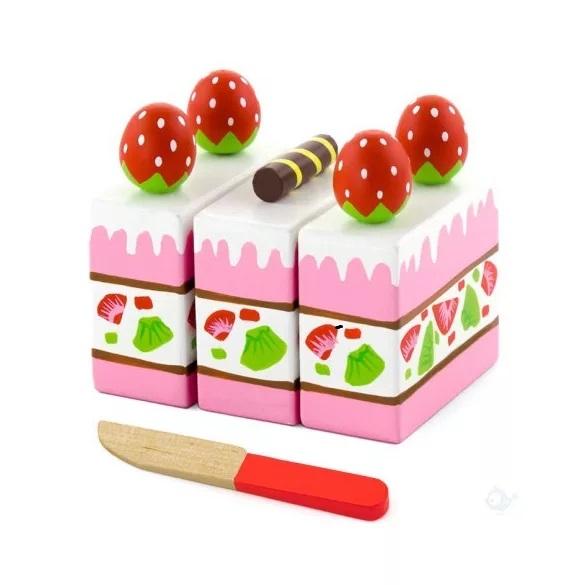 Viga Drevené krájanie - jahodová torta