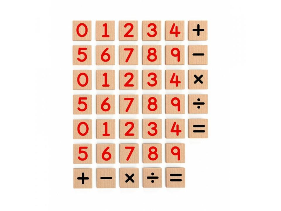 Viga Drevené magnetické čísla