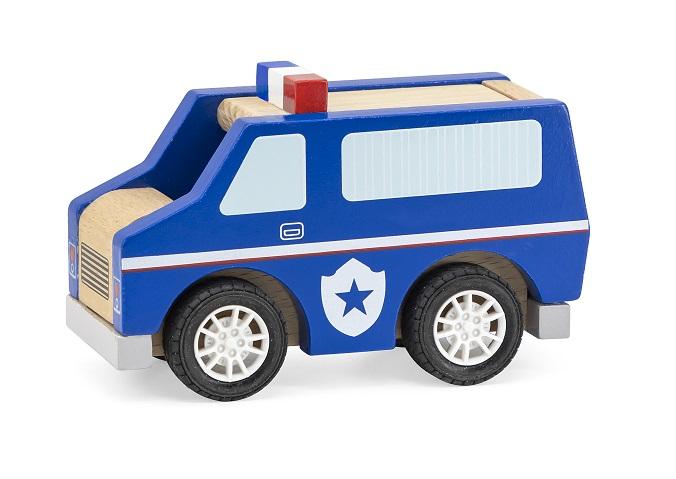 Viga Drevené policajné auto 13cm