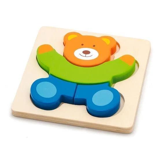 Viga Drevené puzzle medveď