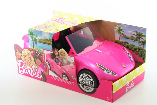 Mattel Ružové auto Barbie 34cm