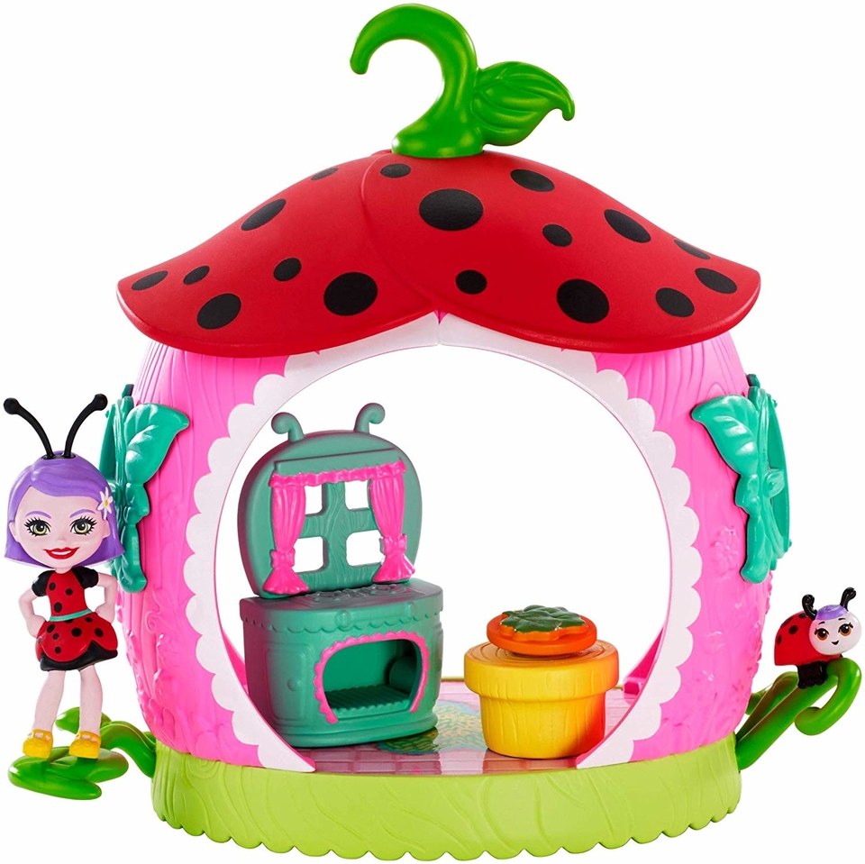 Mattel Enchantimals chrobáčik s domčekom Teeny Kitchen
