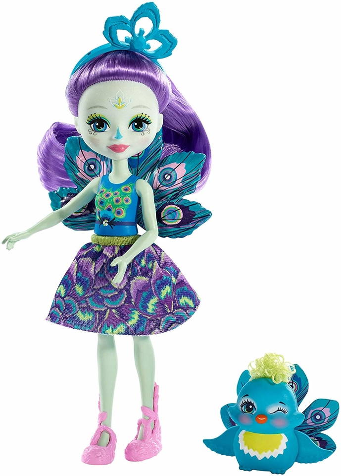 Mattel Enchantimals figúrka Patter Peacock a Flap