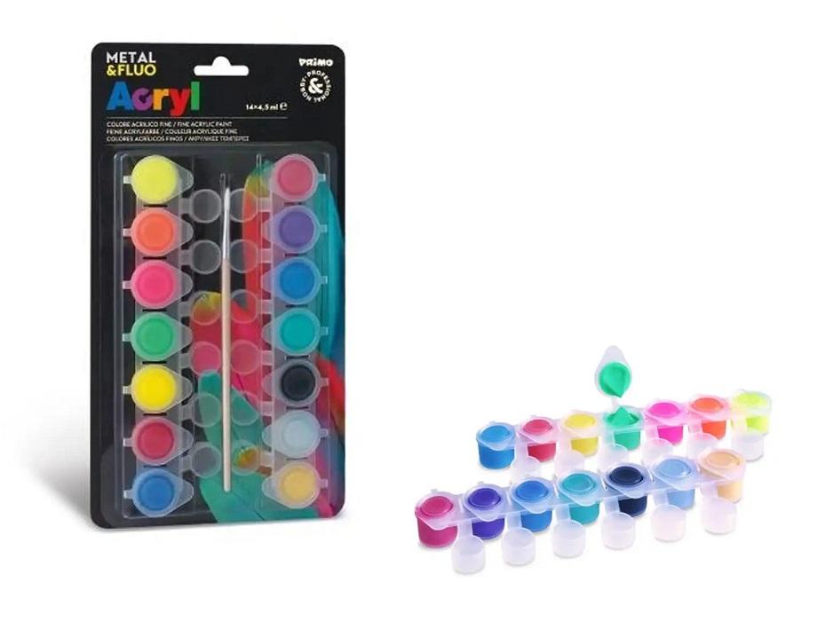 Milan Akrylové farby neónové 14x4,5ml