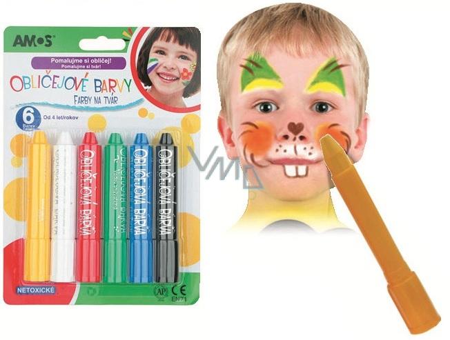 Farby na tvár 6 odtieňov