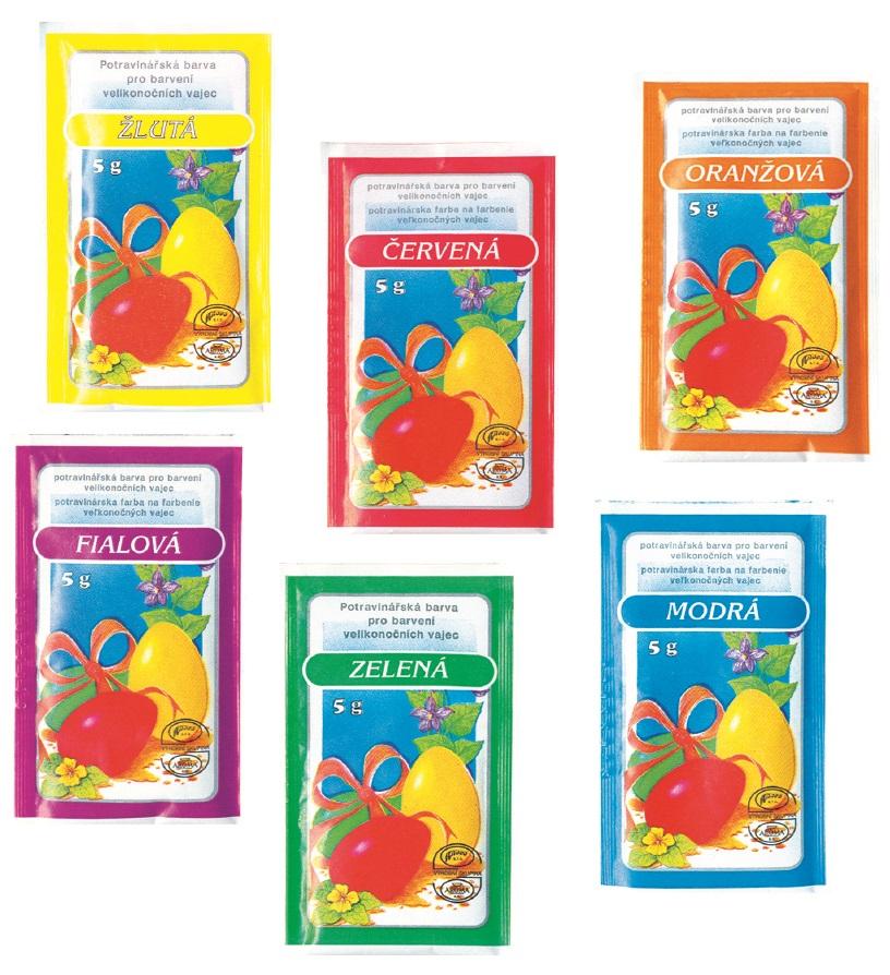 Farby na veľkonočné vajíčka 6farieb - žltá