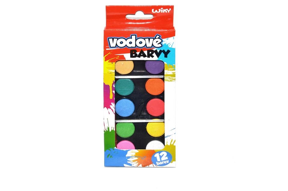 Farby vodové 12-farebné