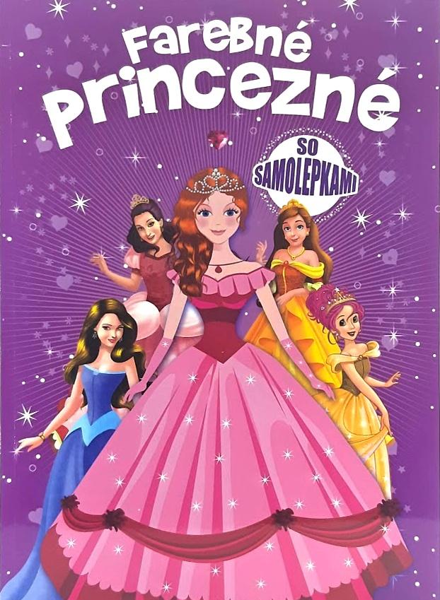 Omaľovánka farebné princezné s nálepkami