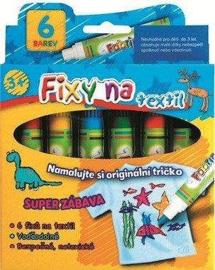 Fixky na textil 6 farieb