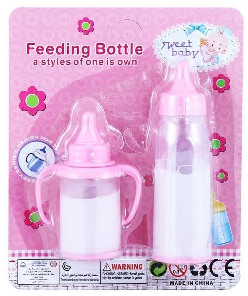 Flaše s mliekom pre bábiky 2ks