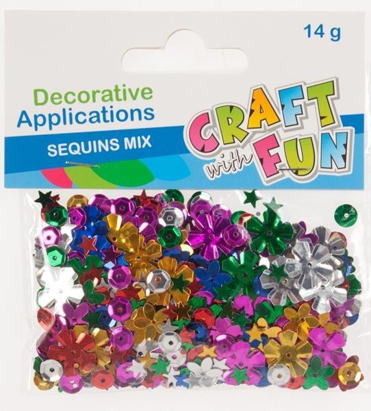 Craft with Fun Farebné flitre kvetinky 14g