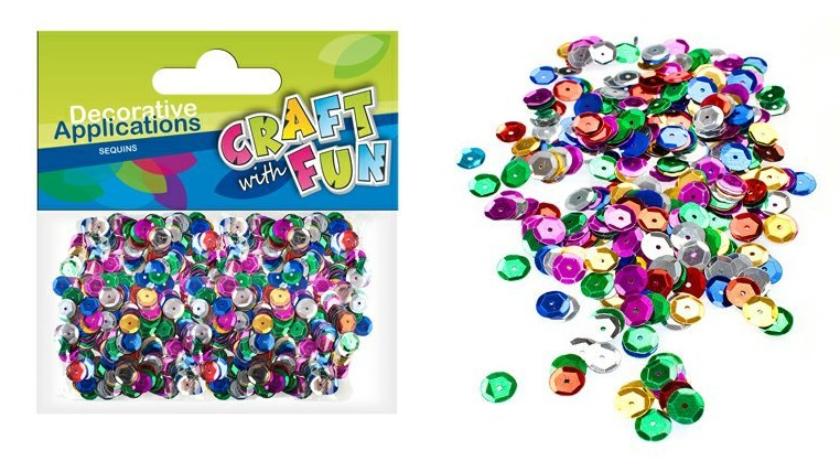 Craft with Fun farebné flitre 6,5mm