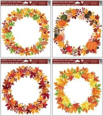 Fólia okenná jesenné vence