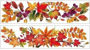 Okenná fólia jesenné lístie