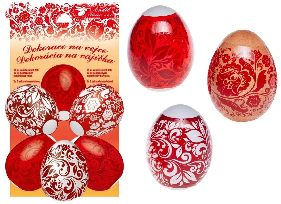 Dekoračná fólia na vajíčka červená 10ks