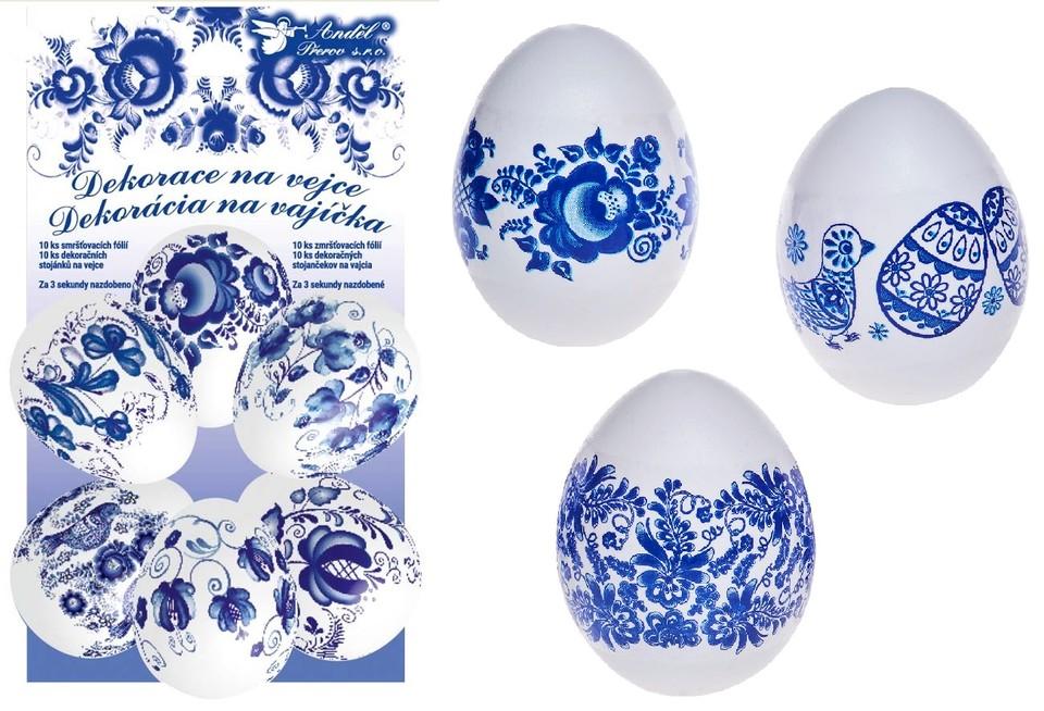 Zmršťovacia fólia na vajíčka 10ks modrá