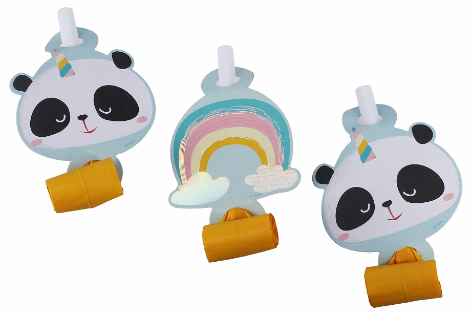 Párty frkačky panda 6ks