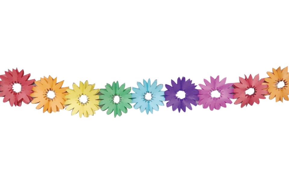 Girlanda papierová kvety 4m
