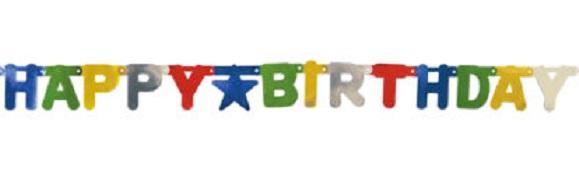 Girlanda s písmenkami Happy Birthday 1,56m