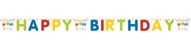 Girlanda Happy Birthday 2m