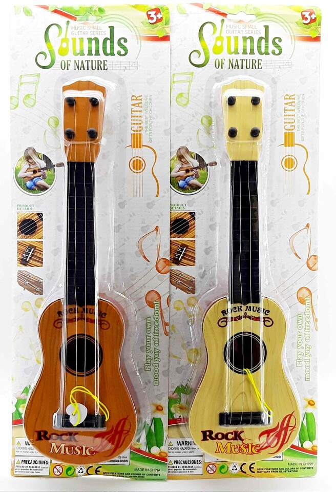 Gitara Rock Music 42cm - svetlohnedá