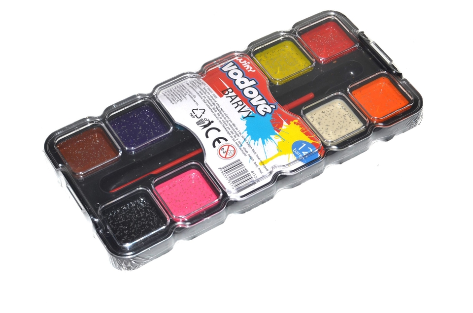 Farby vodové s trblietkami