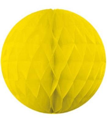 Ozdobná dekoračná guľa, žltá 30cm
