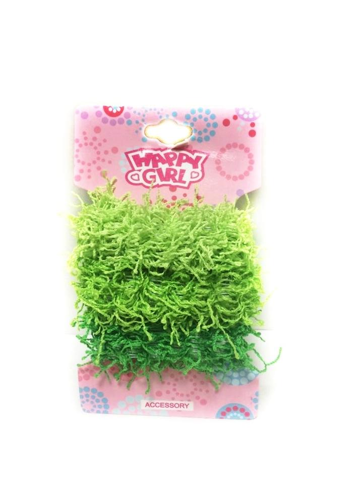 Gumičky do vlasov zelené, 3ks