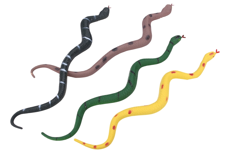 Gumený had 28cm - zelená