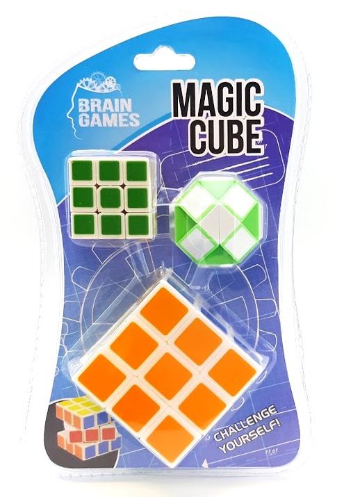Hlavolam Magic Cube 3ks