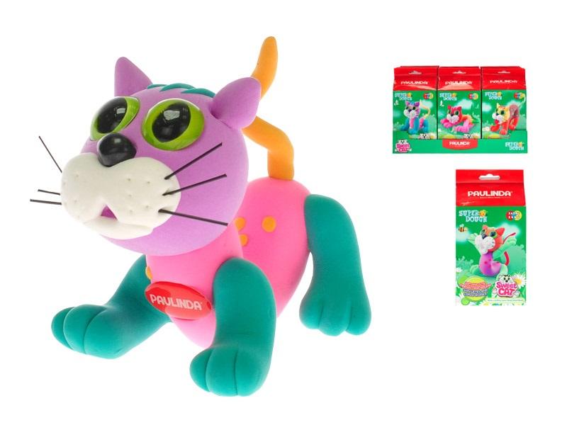 Tvorivá hmota s doplnkami Mačka - fialová
