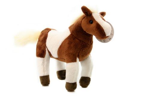 Hnedo-biely kôň plyšový
