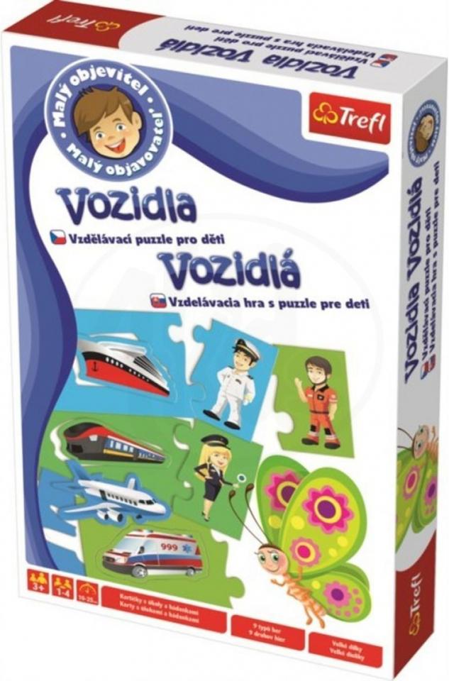 Trefl Malý objavovateľ Hra s puzzle vozidlá