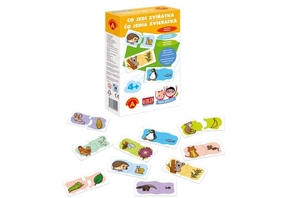 Hra školou - Čo jedia zvieratká
