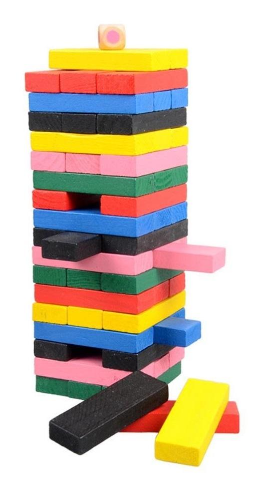 Hra veža Jenga Drevo 54ks