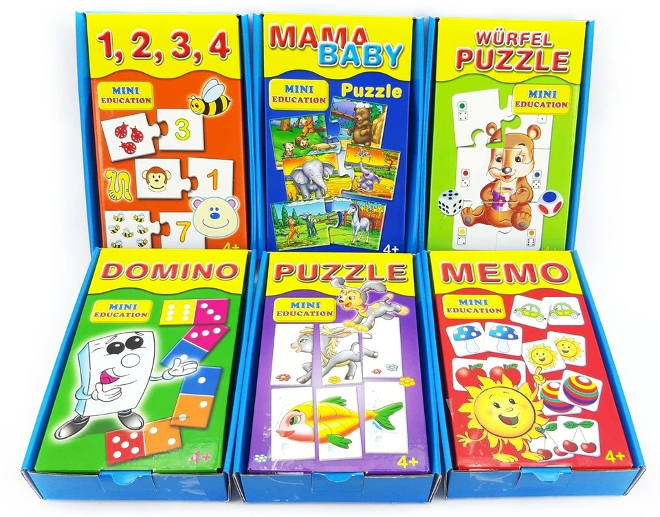 Dohány Mini Education vzdelávacie hry mix - Puzzle Mini Education