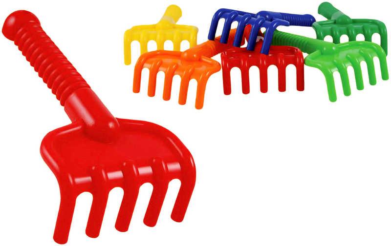 Plastové hrabličky 18cm - žltá
