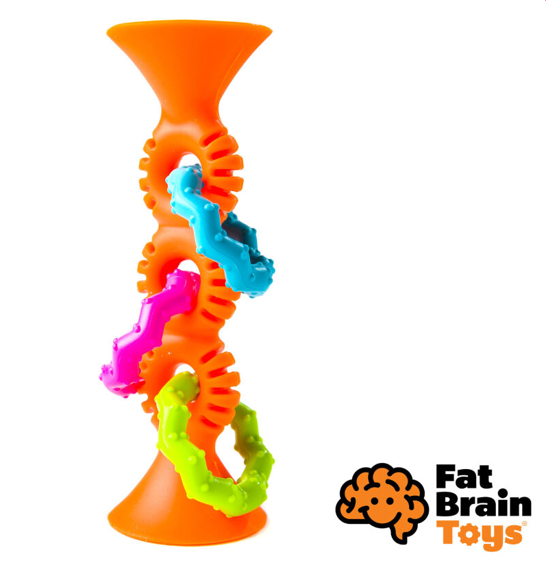Fat Brain hrkálka Pipsquiz Loops oranžová
