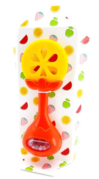 Hryzátko s hrkálkou ovocie 14cm