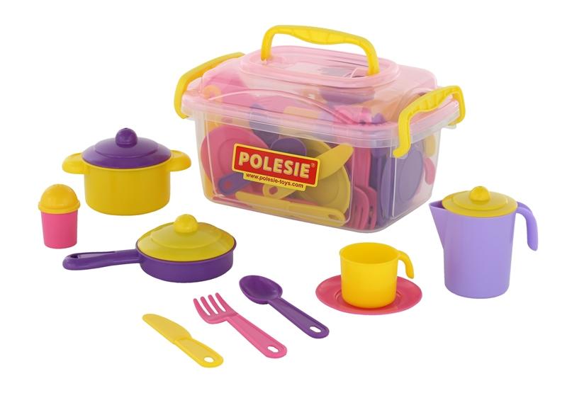 Detská jedálenská súprava v kufríku pre 6 osôb