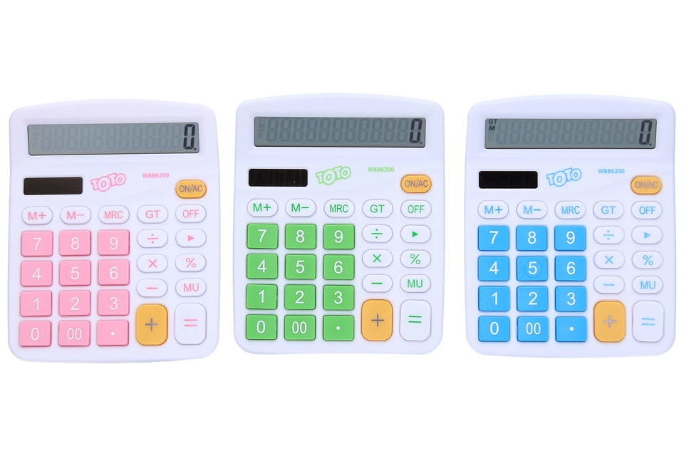 Kalkulačka Solar 12.digit - zelená