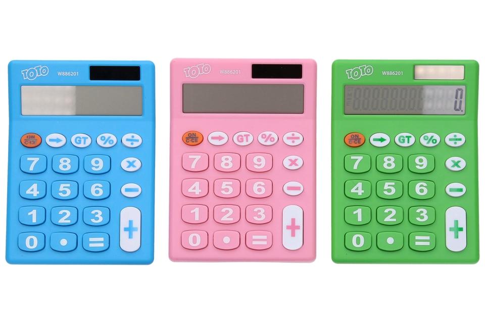 Kalkulačka Solar 12.digit - ružová