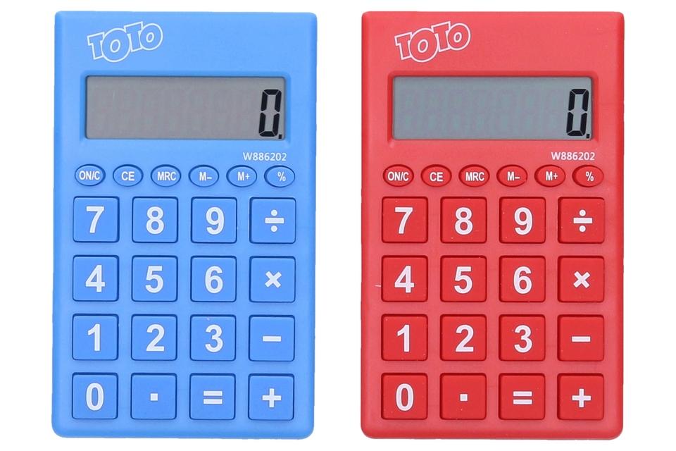 Kalkulačka 8.digit. - modrá