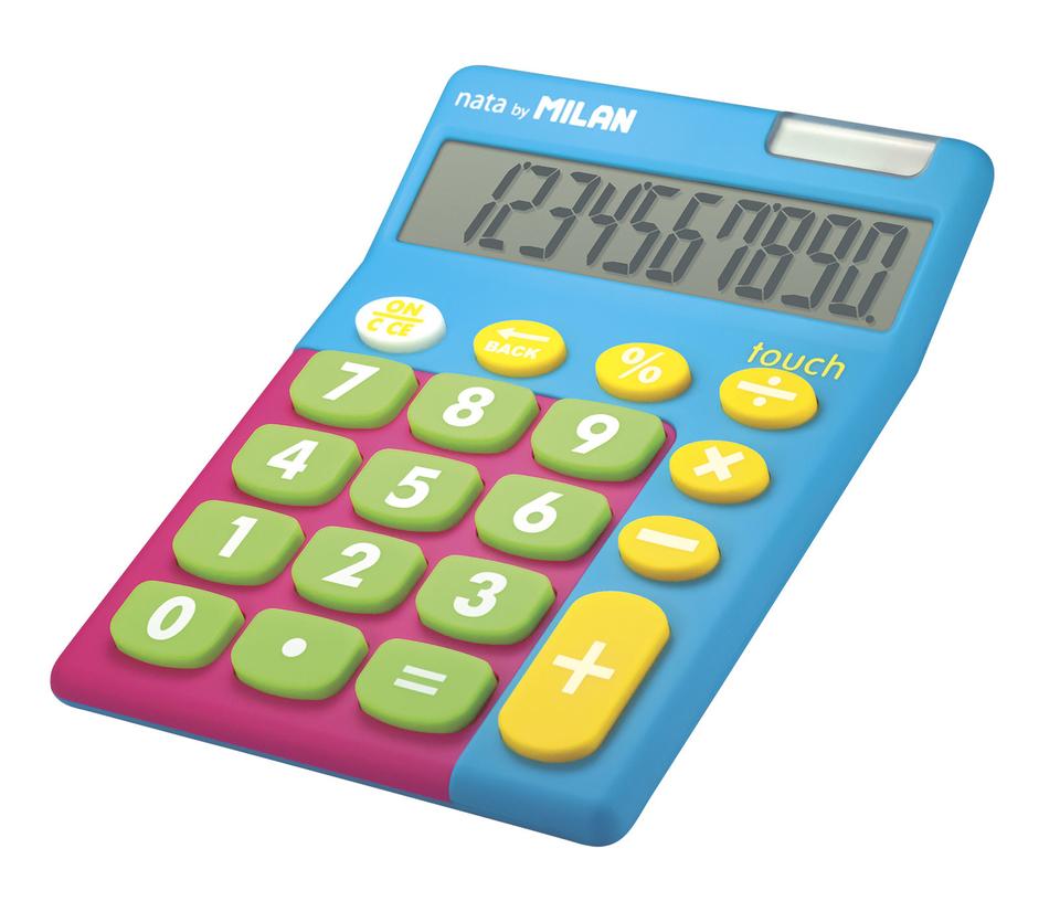 Kalkulačka Milan 10 dig. Solar - modrá